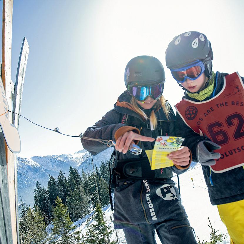 Skifahren Piste Familienurlaub Flachau