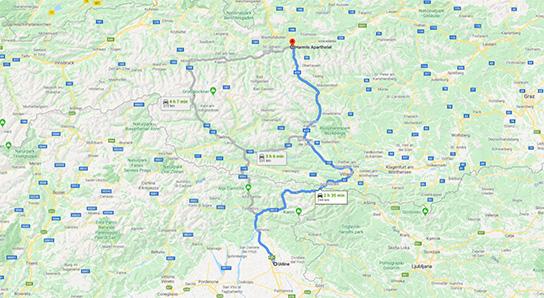 Anreise Udine_Harmls