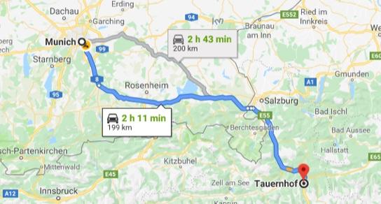Maps Munich-Flachau Hotel Tauernhof